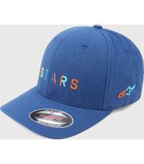 gorra azul-multicolor alpinestars
