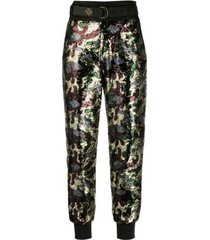 mr & mrs italy audrey tritto capsule pants with paillettes camouflage