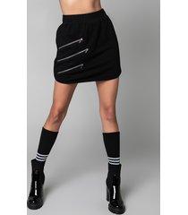 akira zippers casual mini skirt