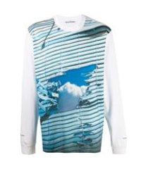 acne studios camiseta mangas longas - branco