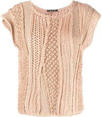 alberta ferretti chunky knit top - neutrals