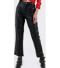 pantalon largo ecocuero negro night concept