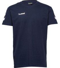 hmlgo cotton t-shirt s/s t-shirts short-sleeved blå hummel