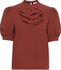 top blouses short-sleeved brun see by chloé