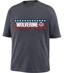 wolverine men's block short sleeve graphic tee granite, size xl