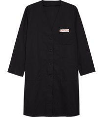 men's raf simons cotton lab coat