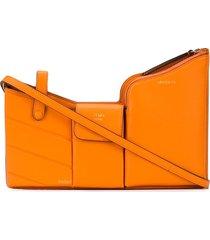 fendi structured shoulder bag - orange