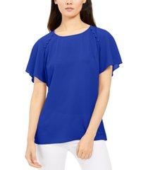 ny collection petite button-detail top