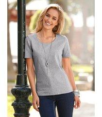 shirt dress in zilverkleur