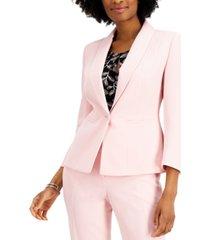 kasper single-button shawl-collar blazer