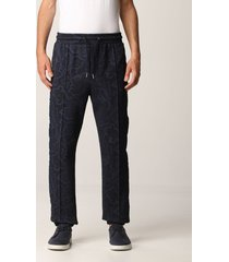 etro pants etro jogging pants in cotton with paisley pattern