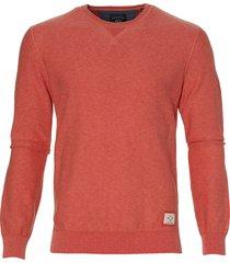 lerros pullover - modern fit - koraalrood