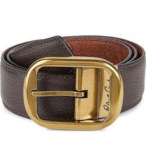 robert graham men's textured leather belt - black brown - size 44