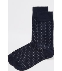 river island mens navy spot print socks