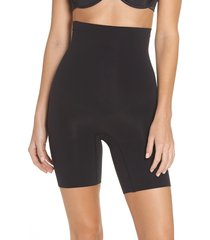 women's spanx higher power mid-thigh shaping shorts, size small - black