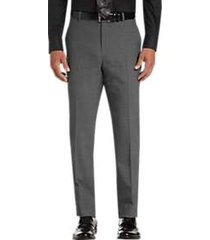 awearness kenneth cole awear-tech gray check slim fit dress pants