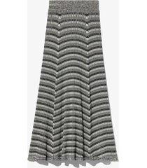 proenza schouler white label geo rib knit skirt black/paleyellow/grey xs
