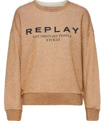 sweater gebreide trui beige replay