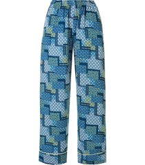 bambah patchwork trench trousers - blue