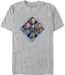 marvel men's avengers endgame hero four square, short sleeve t-shirt