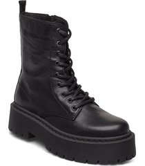 biadeb laced up boot shoes boots ankle boots ankle boot - flat svart bianco
