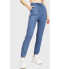 pantalón de buzo nrg azul - calce ajustado