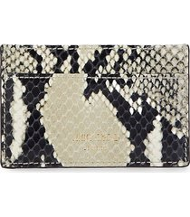 jimmy choo women's athini snake-embossed leather card case - natural
