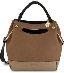 see by chloé women's mini maddy leather hobo bag - hot tan
