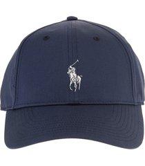 ralph lauren man navy blue twill baseball cap
