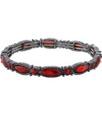 2028 black-tone stretch bracelet