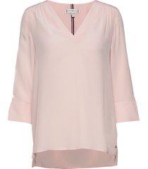 lottie blouse 3/4 slv blouse lange mouwen roze tommy hilfiger
