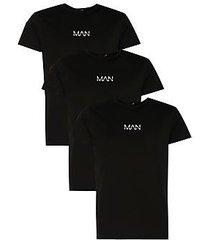 3 pack original man logo print t-shirt