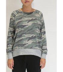 women's camouflage raglan sweatshirt