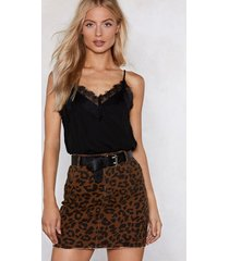 womens lace the consequences cami top - black