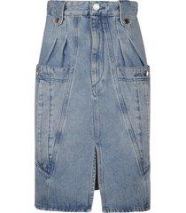 isabel marant denim mid-length skirt