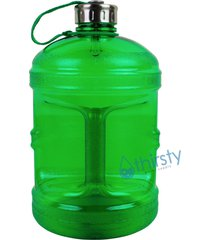 green bpa free 1 gallon water bottle steel cap jug container canteen reusable