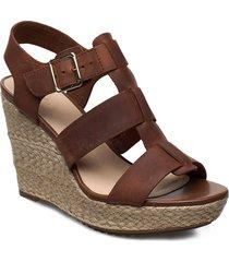 maritsa95 glad sandalette med klack espadrilles brun clarks