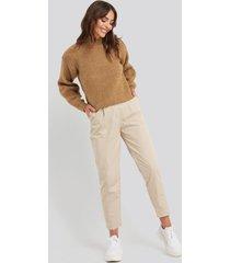 trendyol binding detailed trousers - beige
