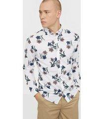 premium by jack & jones jprblasummer flower shirt l/s bd su skjortor vit