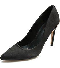 zapato tacón alto color negro paris hilton p25-f