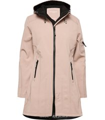 hip-length softshell raincoat regenkleding roze ilse jacobsen