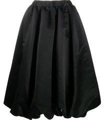 comme des garçons pleated mid-length skirt - black