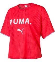 chase mesh t-shirt voor dames, maat s | puma