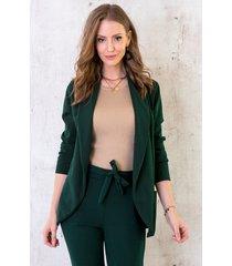 basic blazer smaragdgroen