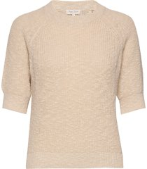 delarapw pu t-shirts & tops knitted t-shirts/tops beige part two