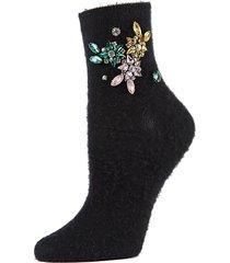 brushed jeweled crew socks