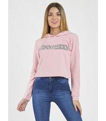 buzo rosa bennet strong jogging capucha