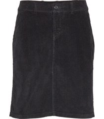 skirt knälång kjol svart signal