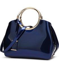 moda azul de ladie bolso brillante estilo europeo y americano salvaje
