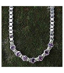 amethyst and peridot choker, 'exuberance' (indonesia)
